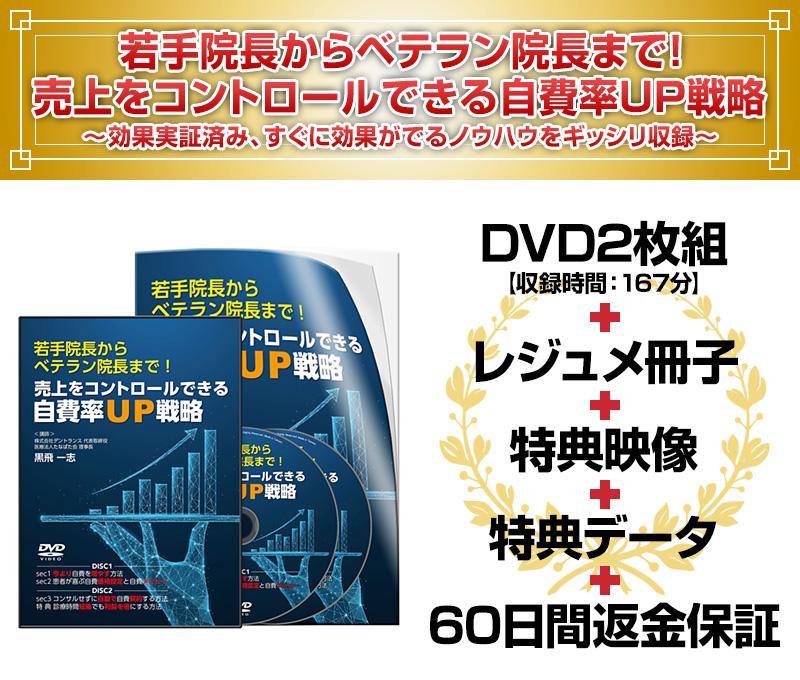 若手院長からベテラン院長まで! 売上をコントロールできる自費率UP戦略DVD