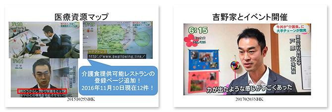 NHKやTBS、フジテレビ、各新聞、専門誌など多数